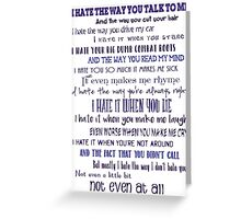 10 Things I Hate About You Greeting Card