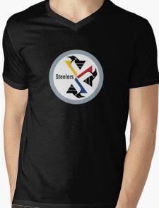 Pittsburgh Penguin Steelers Mens V-Neck T-Shirt