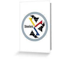 Pittsburgh Penguin Steelers Greeting Card