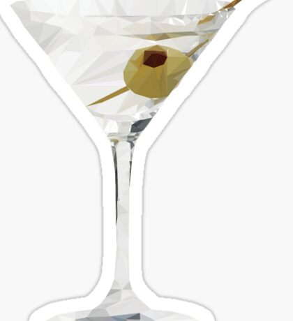 Martini Glass - Detailed Low Poly Sticker