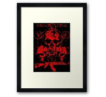 Skulls & Guns Framed Print