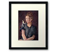 Zoe Alexandra watercolour painting by Paris Lomé Framed Print