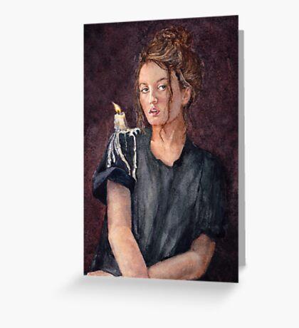 Zoe Alexandra watercolour painting by Paris Lomé Greeting Card