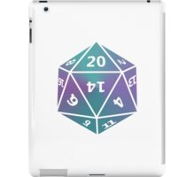 D20 turquoise/purple blend iPad Case/Skin