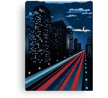 Night City Road Canvas Print