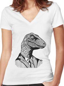 Business Raptor Women's Fitted V-Neck T-Shirt