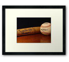Louisville Slugger and MLB Ball Framed Print