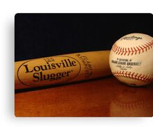 Louisville Slugger and MLB Ball Canvas Print