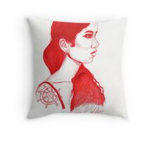 The Red Wheel Throw Pillow