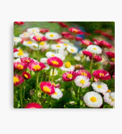pink and white flower painting Canvas Print