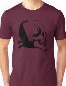 Splatter Skull 2 (black) Unisex T-Shirt