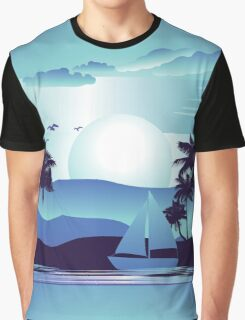 Palm Tree at Night 5 Graphic T-Shirt