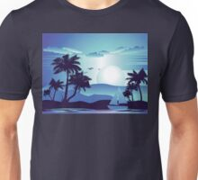 Palm Tree at Night 5 Unisex T-Shirt