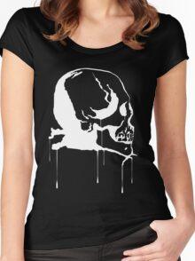 Splatter Skull 2 (white) Women's Fitted Scoop T-Shirt