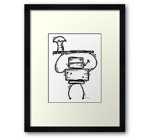 Page Down the robot Framed Print