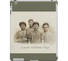Doffer Boys in Macon, Georgia 1909 by Lewis Wickes Hine iPad Case/Skin
