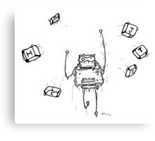 PC the robot Canvas Print