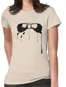 Splatter Sunglasses (black) Womens Fitted T-Shirt