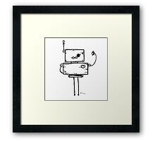 Print Screen the robot Framed Print