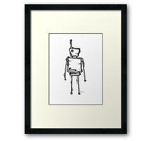 R. Shift the robot Framed Print