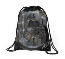 Re-Cycling Wheels Drawstring Bag