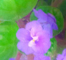 Violets are blue? Sticker