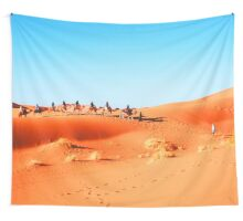 On The Road. On The Sand. Wall Tapestry