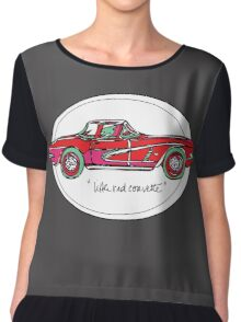 Little Red Corvette Chiffon Top