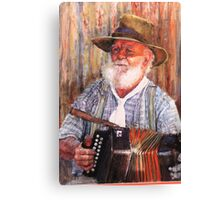 The Accordian man Canvas Print