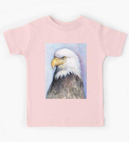 Bald Eagle Painting Watercolor Kids Tee