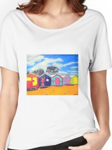 Brighton Bathing Boxes Women's Relaxed Fit T-Shirt