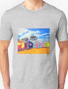 Brighton Bathing Boxes Unisex T-Shirt