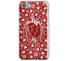 Human heart and rose vine iPhone Case/Skin
