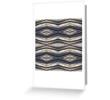 Horizontal Forest Diamond Stripes Greeting Card