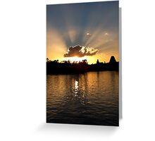 Rays of Sunlight Greeting Card