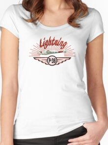 Lightning P-38 Women's Fitted Scoop T-Shirt