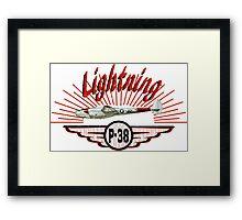 Lightning P-38 Framed Print