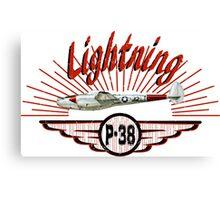 Lightning P-38 Canvas Print