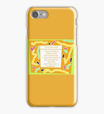 Life Flow Love Word Art iPhone Case/Skin