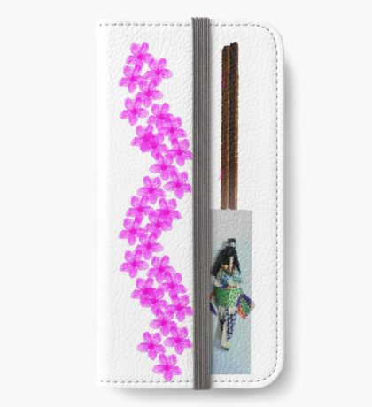 Pink Flowers And Paper Dolls iPhone Wallet/Case/Skin