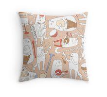 Cats band Throw Pillow