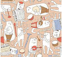Cats band Photographic Print