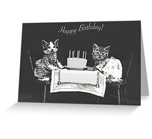 Harry Whittier Frees-  The Birthday Cake Greeting Card