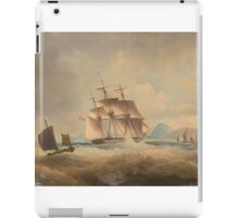 Thomas Lyde Hornbrook (London ) British barque on a stormy sea off coast iPad Case/Skin