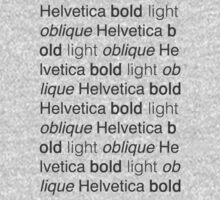 Helvetica, friends Kids Tee