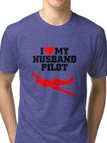 I love my Husband Pilot Tri-blend T-Shirt