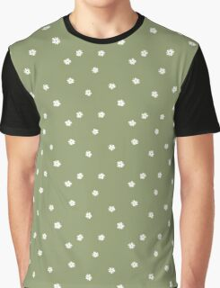 Elderflowers on green, sparse Graphic T-Shirt