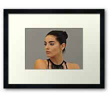 Flesh & Eyelashes Framed Print