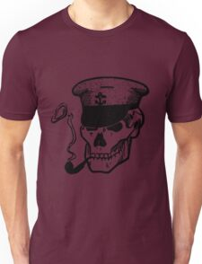 Skull Smoking a Pipe Unisex T-Shirt