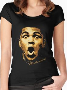 Muhammad Ali Signed Women's Fitted Scoop T-Shirt